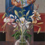 Les lys dans la rondeur d'un vase