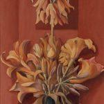Bouquet en ocre jaune et rouge