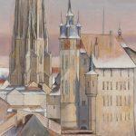 L'Hôtel de Ville et la tour de la Cathédrale