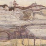 Les falaises de Lorette à la fin de l'hiver