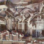 La falaise aux glaçons et le bas de la ville