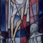 La Résurrection (premier projet de vitrail pour la Chapelle de Sévaz)