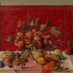 Fruits sur fond rouge (de)