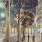 Le commencement de Pérolles et la gare, la nuit