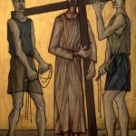 Chemin de Croix du Christ-Roi, Station 02, Jésus est chargé de sa croix
