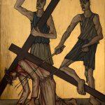 Chemin de Croix du Christ-Roi, Station 09, Jésus tombe pour la troisième fois