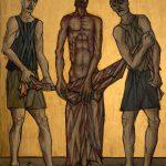 Chemin de Croix du Christ-Roi, Station 10, Jésus est dép1llé de ses vêtements