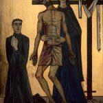 Chemin de Croix du Christ-Roi, Station 13, Jésus est remis dans les bras de sa mère