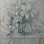 Petit bouquet sur fond blanc