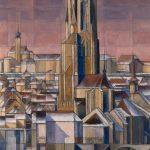 Au milieu de la cité, la Cathédrale, St Michel et Notre-Dame vus de l'Est