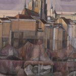 Le revers de la Cathédrale et de l'Eglise St Michel (en)
