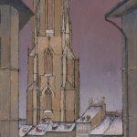 La Tour de St Nicolas (vue du bas de la rue de Lausanne)