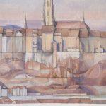 Vu de Montorge, la Grand'Rue et la Cathédrale
