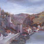 Fribourg, Pont de Berne et Sarine (en)