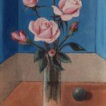 Huit roses roses