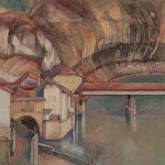 Coup d'oeil sur le Pont de bois, l'Auberge de l'Ange et la sortie du Gottéron