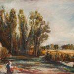 Paysage avec arbres et deux personnages