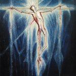 L'agneau divin étincelant de lumière et de sang qui ruisselle d'amour