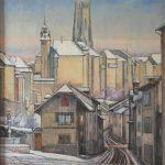 La Neuveville, la Grand-Rue avec l'Hôtel-de-Ville et la Cathédrale