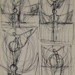 Quatre Christ. Dessin au stylo sur papier