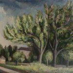 Paysage avec arbres et maisons (sans titre)