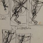 « Le Saint », « Le Christophore ». Six dessins