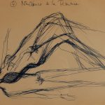 Naissance de la femme. Quatrième dessin au stylo sur papier (en)