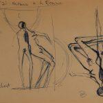 Naissance de la femme. Septième et huitième dessin au stylo sur papier (en)