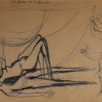 Naissance de la femme. Neuvième dessin au stylo sur papier