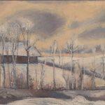 Ferme de Pérolles en hiver