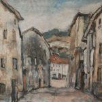 Sans titre (Fribourg, la ruelle des Drapiers en Auge)